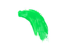 Green stroke of the paint brush Stock Photography