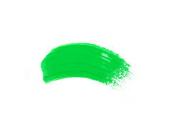 green stroke of the paint brush Royalty Free Stock Photos