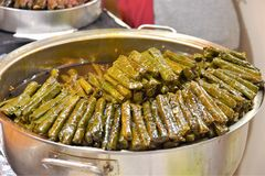 Green Stuffed Dolmades royalty free stock images