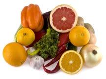 Green-stuffs and fruit Stock Photos