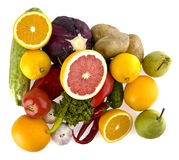 Green-stuffs and fruit Royalty Free Stock Photography