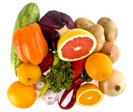 Green-stuffs and fruit Stock Photo