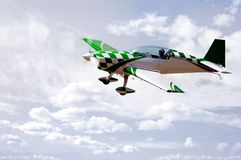 Green Stunt Plane Royalty Free Stock Images
