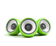 Green stylish audio system Stock Images