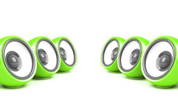 Green stylish audio system Royalty Free Stock Image