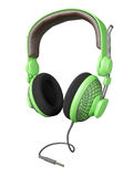 Green and stylish headset Stock Photo