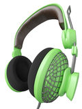 Green and stylish headset Royalty Free Stock Image