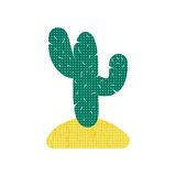 Green stylized cactus on white background Royalty Free Stock Images