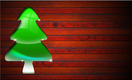Green and Stylized Christmas Tree Stock Image