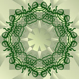 Green stylized mandala blank center for ext banner Stock Images