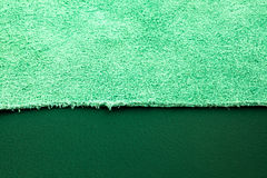 Green suede leather Stock Photos