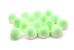 Green sugar candy sweets Stock Photo