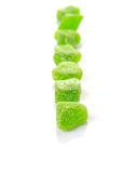 Green Sugar Jelly Candy II Royalty Free Stock Photo