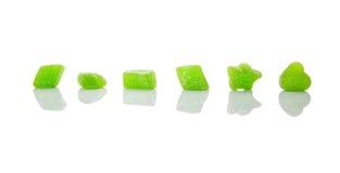 Green Sugar Jelly Candy III Stock Photos