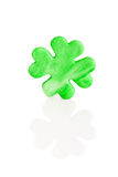 Green sugar shamrock Stock Image