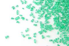 Green sugar sprinkles Stock Images