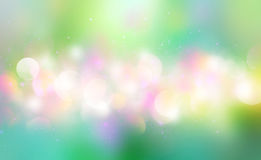 Green summer blurred horizontal bokeh banner. Green colorful blur summer horizontal banner background.Nature blurred abstract spring bokeh Royalty Free Stock Image