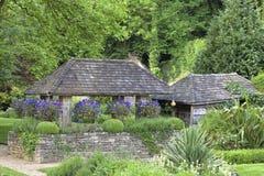 Green summer english landscaped garden Royalty Free Stock Photos
