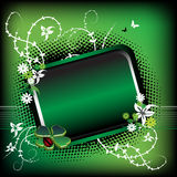 Green summer frame Stock Image