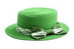 Green Summer hat. Royalty Free Stock Images