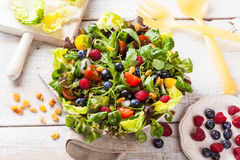 Green summer salad Royalty Free Stock Images
