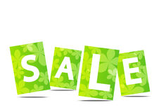 Green summer sale text Royalty Free Stock Photo