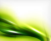 Green summer wave - business eco background Royalty Free Stock Photo