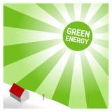 Green sun. Background illustration, solar energy Royalty Free Stock Photography