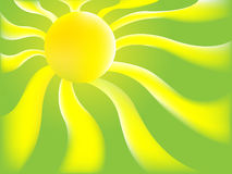 Green Sun background Stock Image