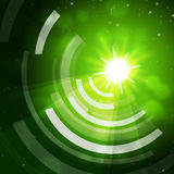 Green Sun Background Means Giving Offf Frequencies Royalty Free Stock Photography