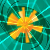 Green Sun Background Shows Light Beams And Waves Royalty Free Stock Photo