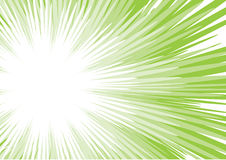 Green sun beam Stock Images