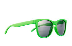 Green sun glasses isolated Stock Photo