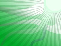 Green Sun Stripes Background Royalty Free Stock Photos
