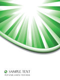 Green sunburst business vector background Royalty Free Stock Images