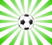 Green sunburst and football Stock Photography