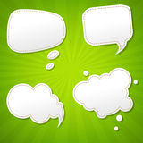Green Sunburst Poster With Speech Bubble Royalty Free Stock Image