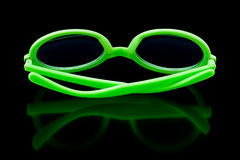 Green sunglasses royalty free stock image