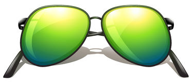 Green sunglasses Stock Photo