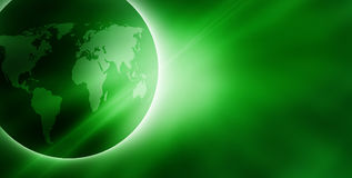 Green sunrise royalty free illustration