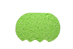 Green Super Absorbent & Anti bacterial cellulose. A clean green Super Absorbent & Anti bacterial cellulose sponge stock image