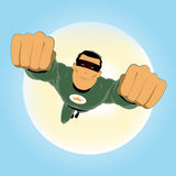 Green Super Hero Royalty Free Stock Images