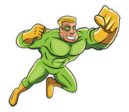 Green Super Hero Stock Photos