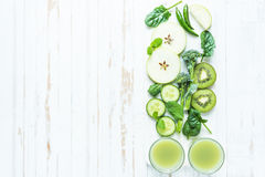 Green super smoothie recipe Stock Photography