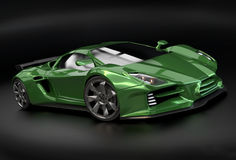 Green supercar concept Stock Photo