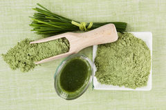 Green superfood background. Royalty Free Stock Images