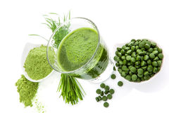 Green superfood. Stock Photos