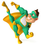 Green Superhero Stock Photography