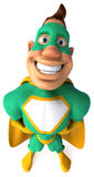 Green Superhero Stock Image