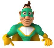 Green Superhero Stock Image